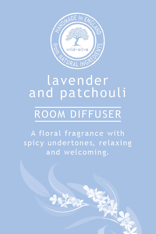 Lavender Patchouli and Vanilla Small Room Diffuser