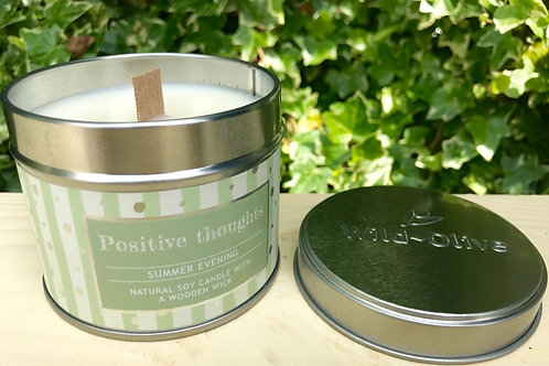 Positive Thoughts  Candle