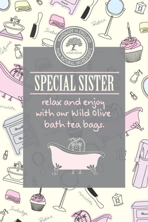 Special Sister Tea Bag Card