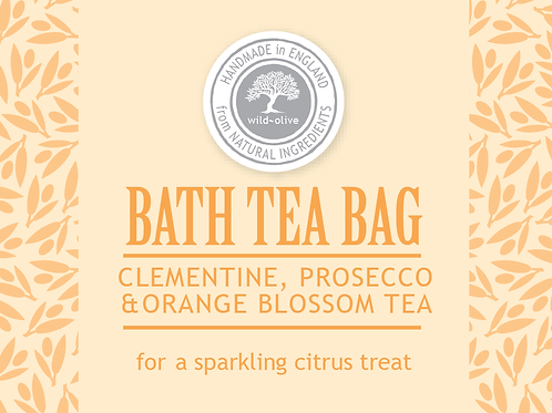 Clementine, Prosecco & Orange Blossom Tea Bag