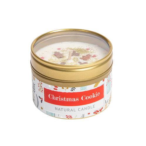 Christmas Cookie Tin Candle