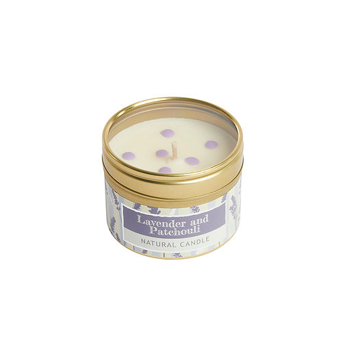 Lavender, Patchouli and Vanilla Small Dotty Tin