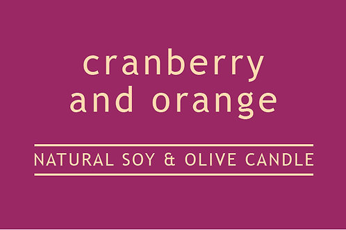 Cranberry and Orange Small Glass