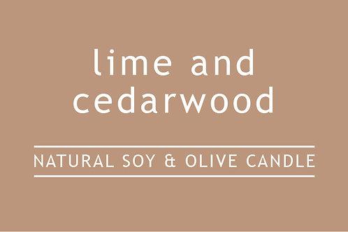 Lime and Cedarwood Small Glass