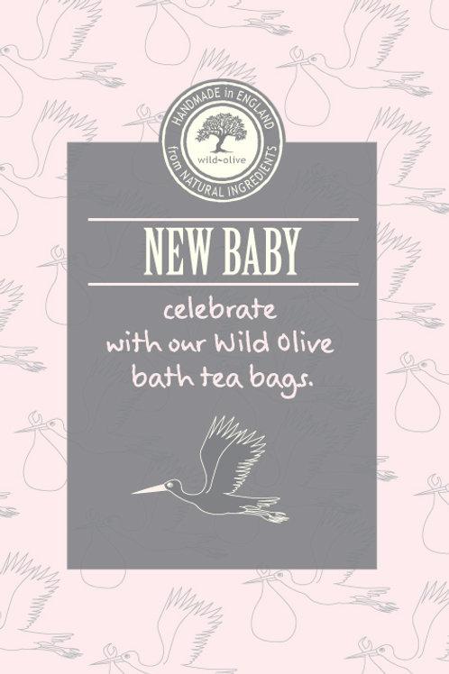 New Baby Pink Tea Bag Card