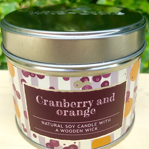 Cranberry and Orange Candle
