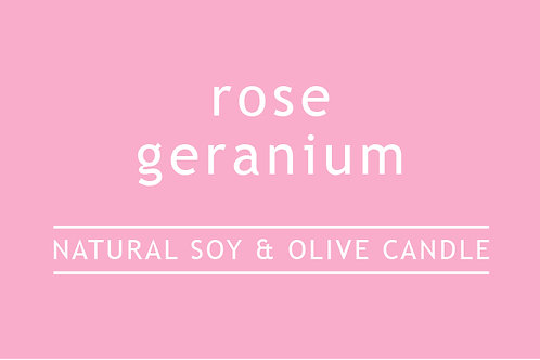 Rose Geranium Small Glass