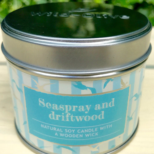 Seaspray and Driftwood Candle