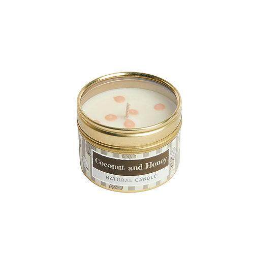 Coconut Small Dotty Tin