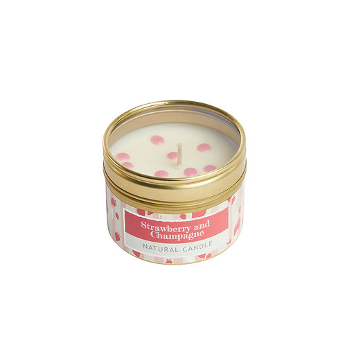 Strawberry and Champagne Small Dotty Tin