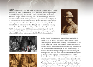 A Vanishing Race: The 150th Birthday ofEdward S. Curtis