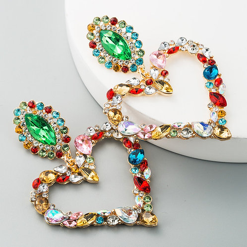Love Lust Heart Earrings