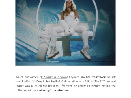 "BEYONCE TEASES ""ICY PARK"" FOR THE NEWEST DRIP COMING FROM IVY PARK"