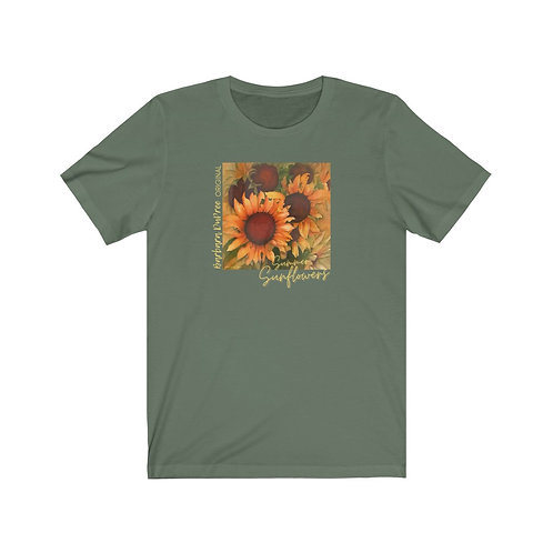 SUMMER SUNFLOWERS  Artwork by Barbara DuPree  (Bella Canvas soft tee)