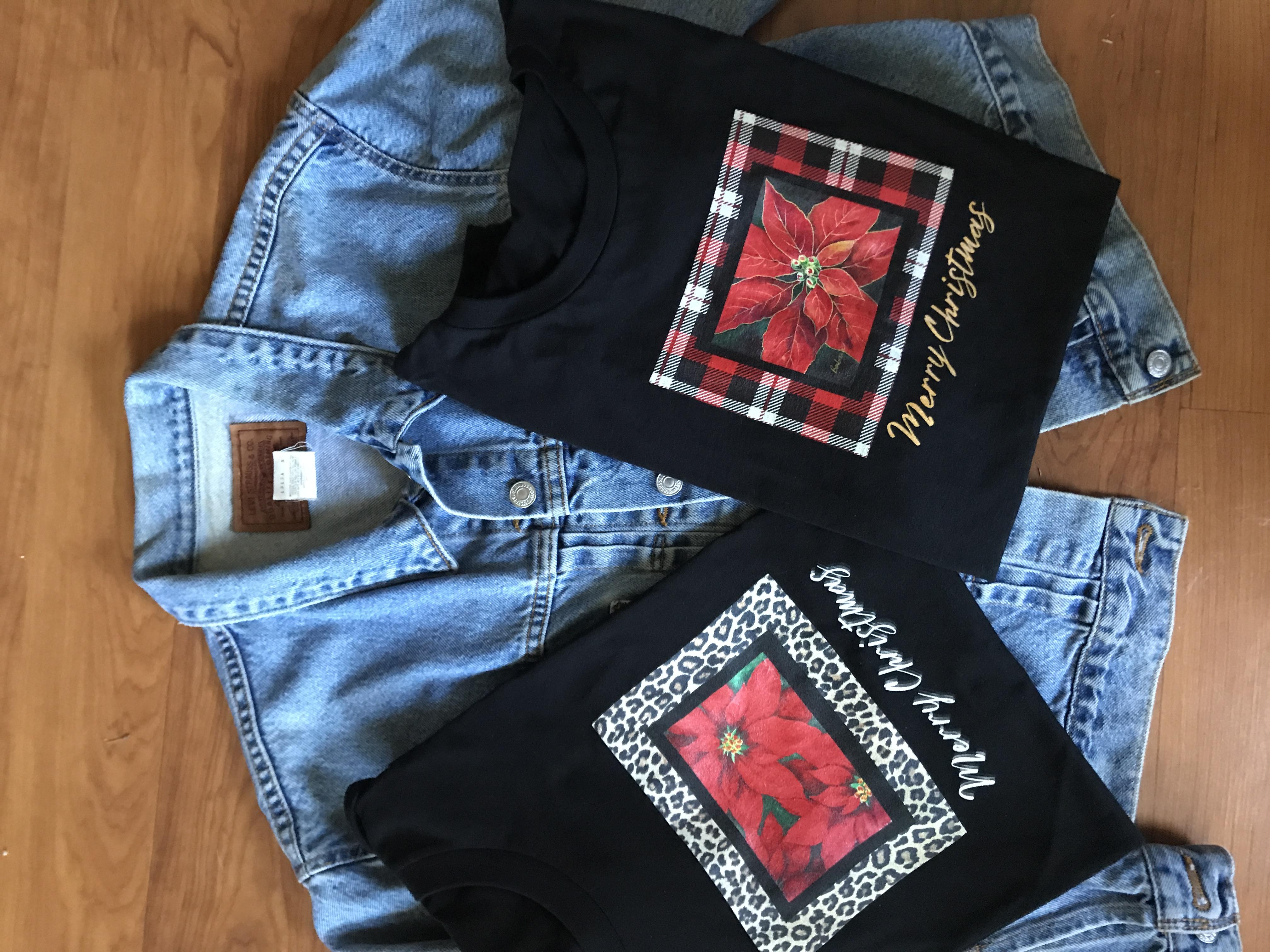 poinsettia shirts