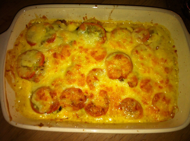 Oven baked cheesy cod