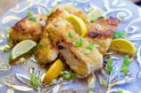 Panfried crispy cod