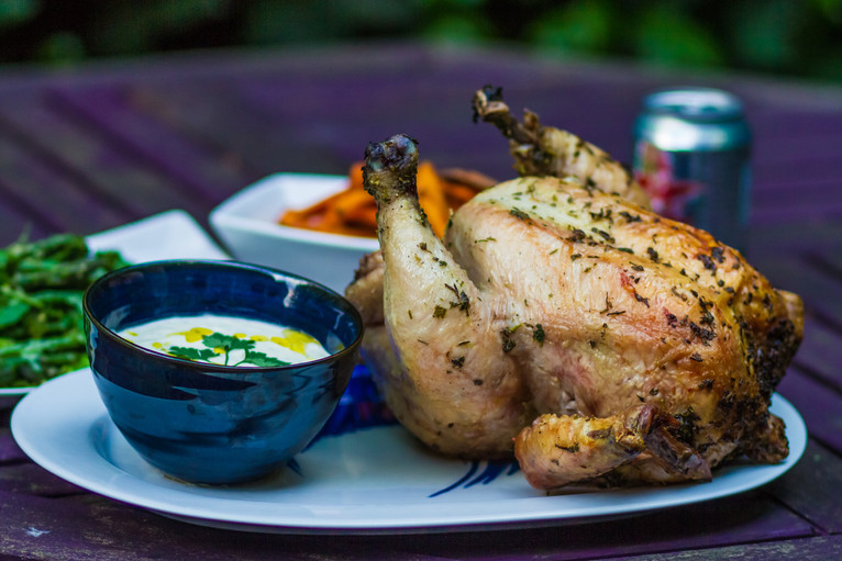 Super juicy beer can chicken
