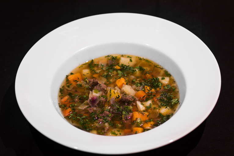 Not so traditional Icelandic lamb soup