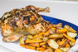 Roast chicken with butter and herbs