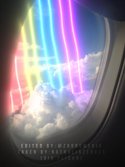 Rainbow Plane Window - 2020