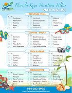 Florida Keys Vacation Villas - Packing L