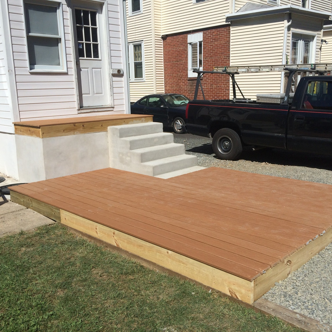 New Deck & Concrete Porch/Steps