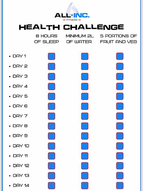 14 day health checklist