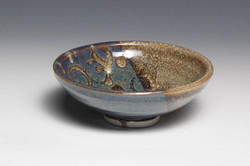 Blue Bowl with Rings