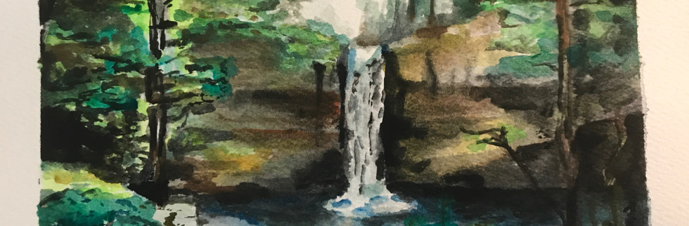 """5"""" x 7"""" watercolor on paper"""