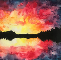 sunrise on a double horizon