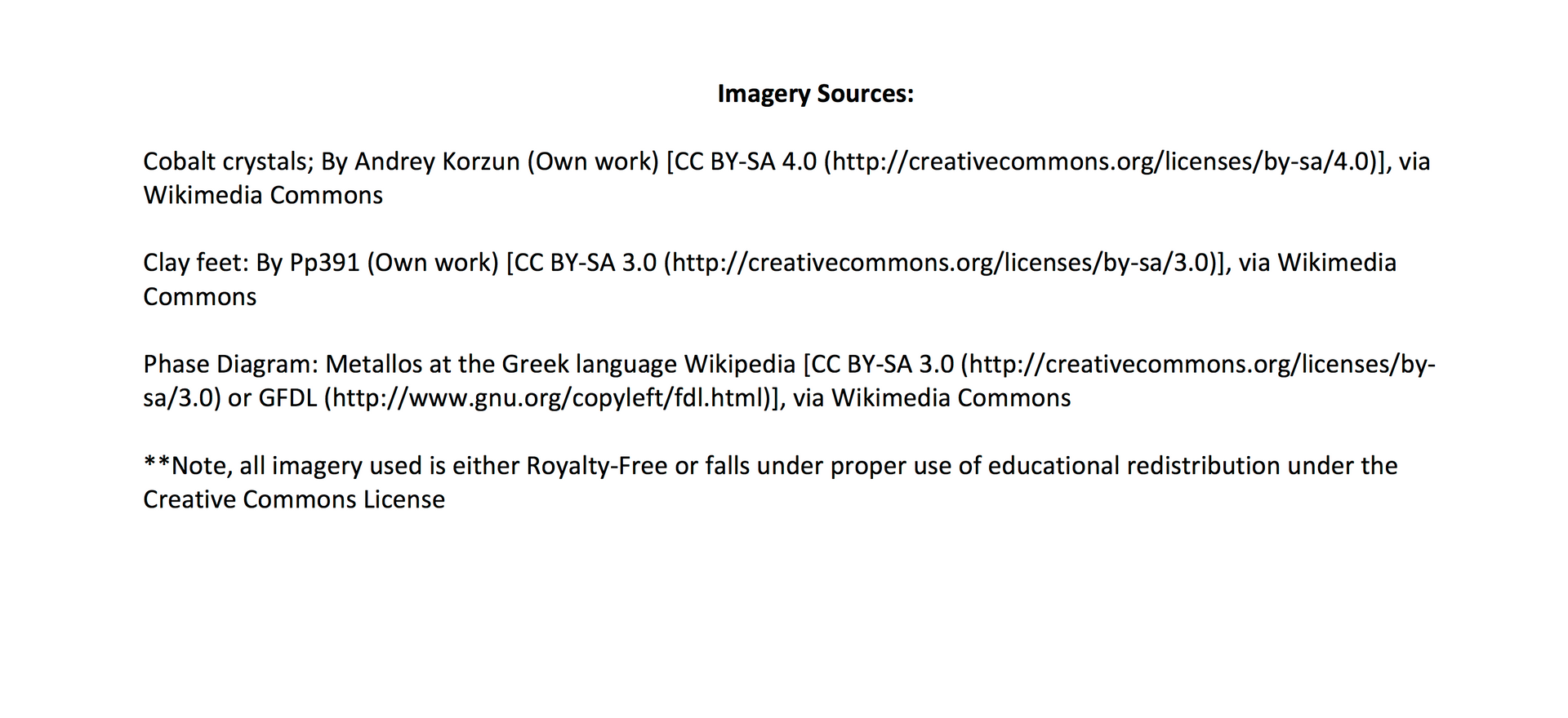 Imagery Sources