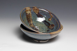 Blue Bowl With Stripes