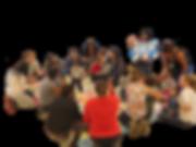 Parents, educators, and children attend the Habla Conmigo workshop