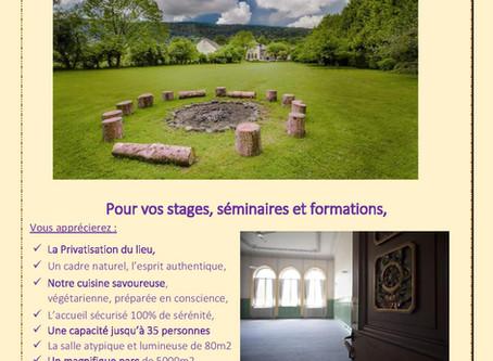 le Centre Val d'Or accueille vos stages, formations et séminaires