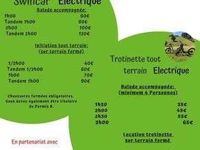 Location Vélo, trottinettes, au plans d'hotonnes