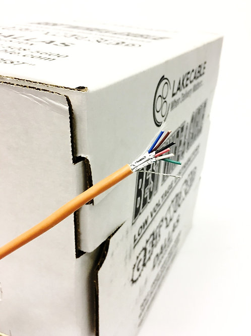 22 AWG 6 CONDCUTOR PLENUM SHIELDED LOW VOLTAGE MULTI-CONDUCTOR WIRE