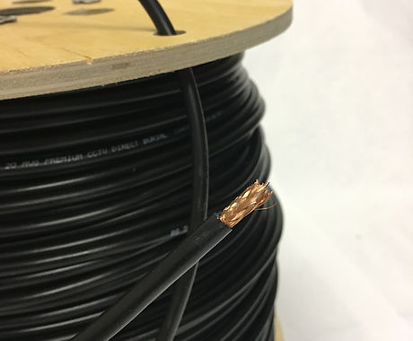 Rhhw-2 black wire and cable