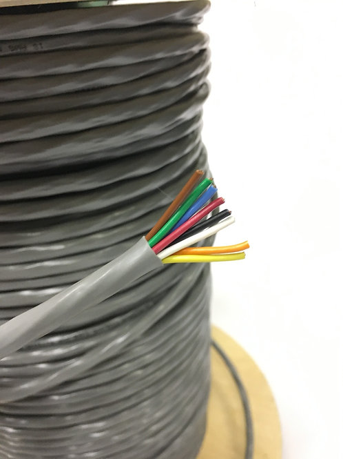 18 AWG 8 CONDUCTOR PVC NO SHIELD MULTI-CONDUCTOR LOW VOLTAGE WIRE