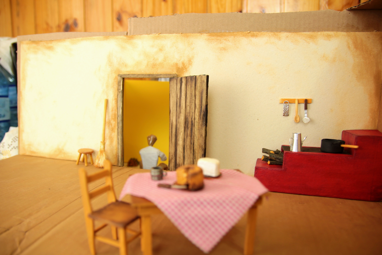 Miniature cabin (seen from inside)