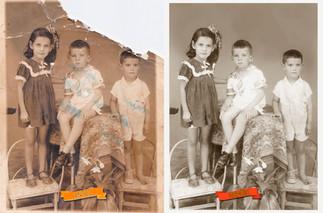 Restauração digital de foto antiga