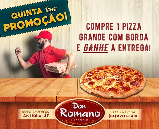 Arte para promoção de pizzaria