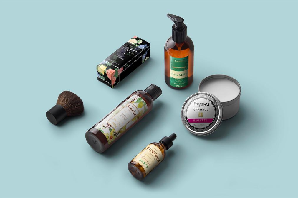 Mockup para amostra de aplicação de arte em embalagens e rótulos