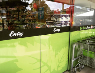 Glass Door Signage and Trolleys