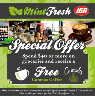 Mint Fresh IGA - Special Offer