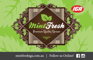 Mint Fresh IGA Voucher Front