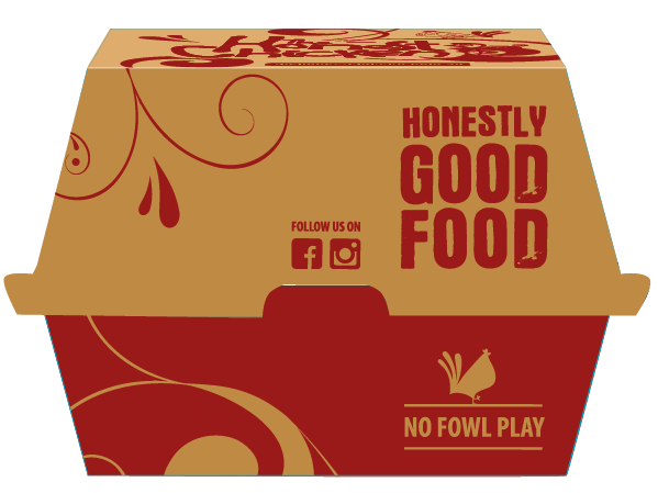 The Honest Chicken - Burger Box Packaging