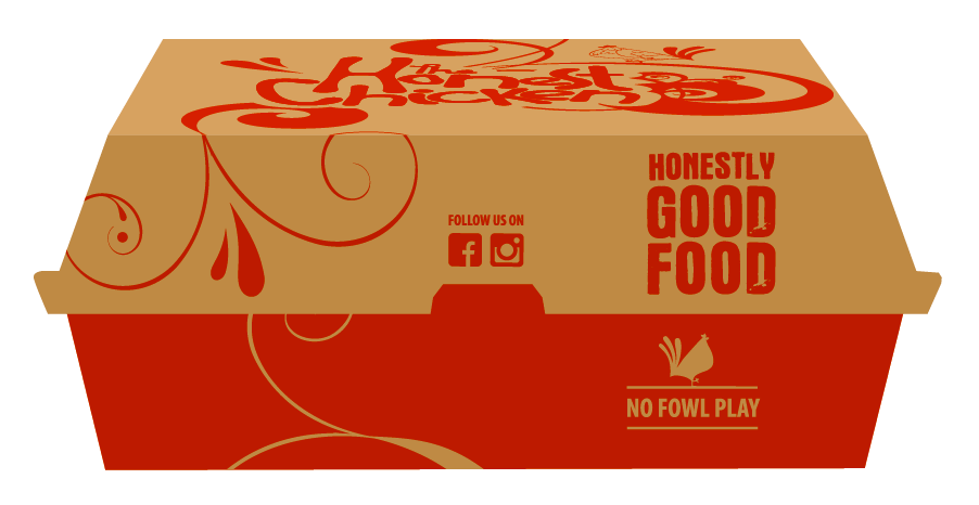The Honest Chicken - Dinner Box Packaging