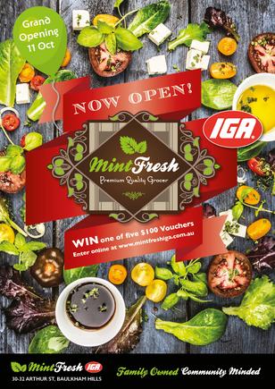 Mint Fresh IGA Newsletter Cover