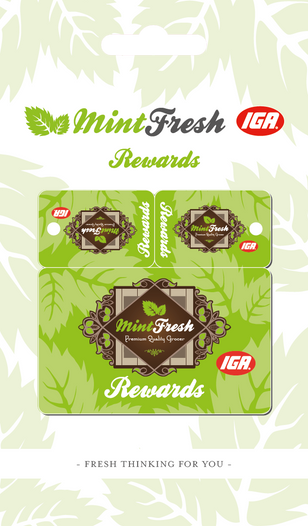 Mint Fresh IGA - Rewards Cards